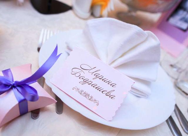 Карточки на стол для свадьбы своими руками